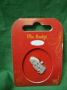 Me To You Tatty Teddy Pin Badge.. wearing red and white hat..christmas..